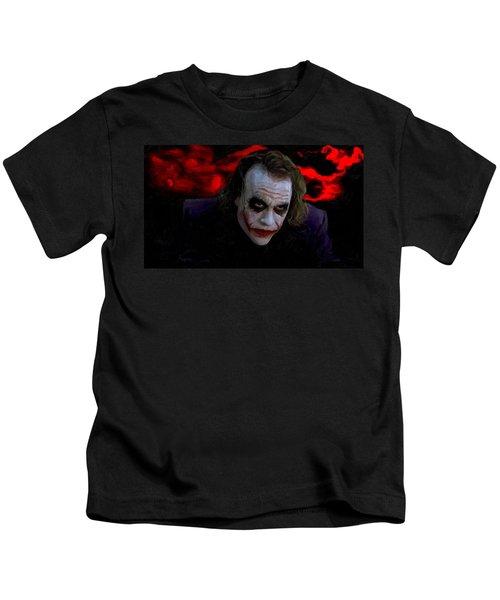 Heath Ledger As Joker Kids T-Shirt by Image World