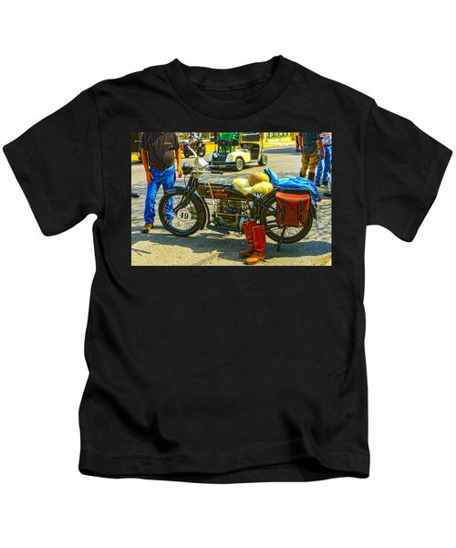 Henderson At Cannonball Motorcycle Kids T-Shirt