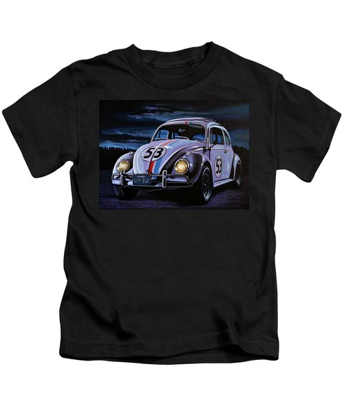 Herbie The Love Bug Painting Kids T-Shirt