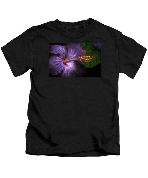 Hibiscus Bloom In Lavender Kids T-Shirt