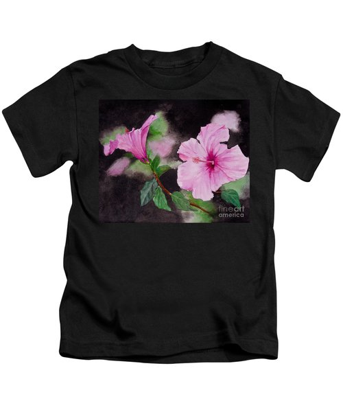 Hibiscus - So Pretty In Pink Kids T-Shirt