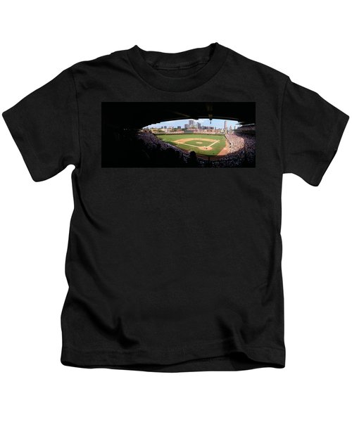 High Angle View Of A Baseball Stadium Kids T-Shirt