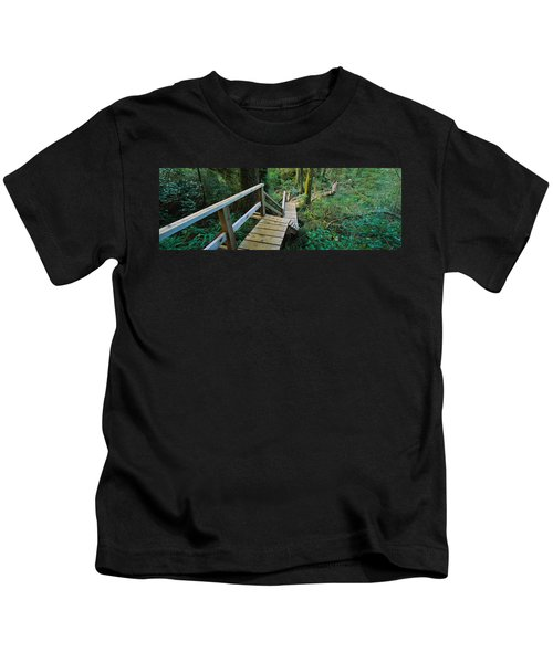 High Angle View Of An Elevated Wooden Kids T-Shirt