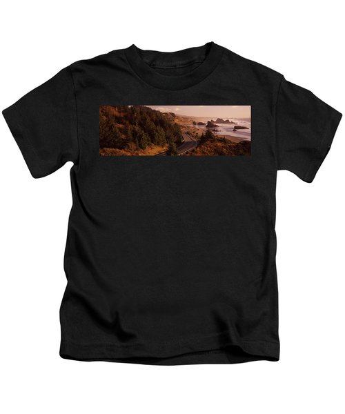 Highway Along A Coast, Highway 101 Kids T-Shirt