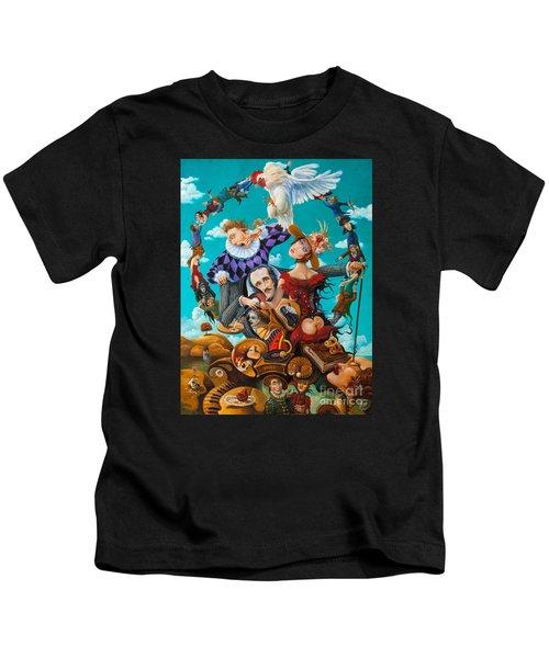 His Majesty Edgar Allan Poe Kids T-Shirt