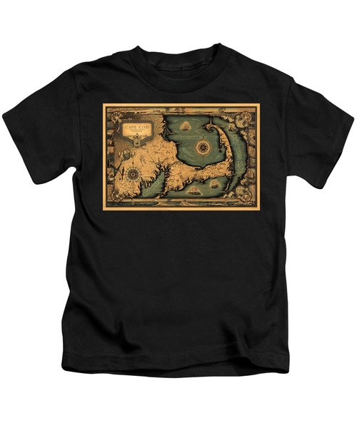 Historical Map Of Cape Cod Kids T-Shirt