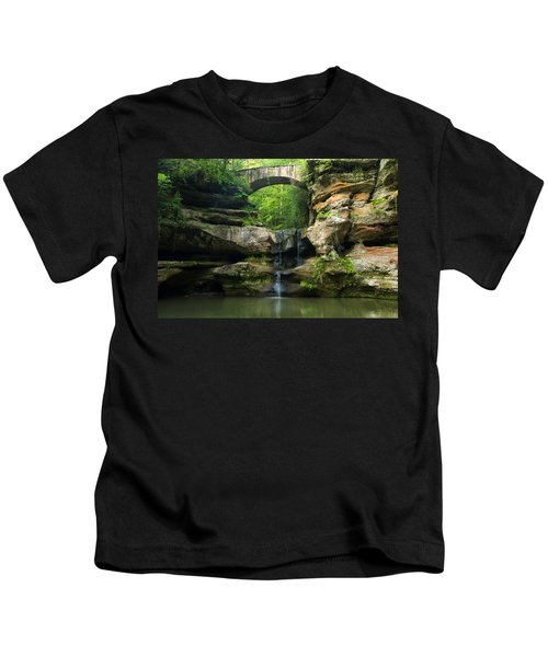 Hocking Hills Waterfall 1 Kids T-Shirt