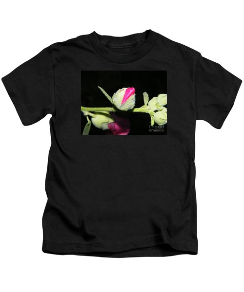 Hollyhock Buds Kids T-Shirt