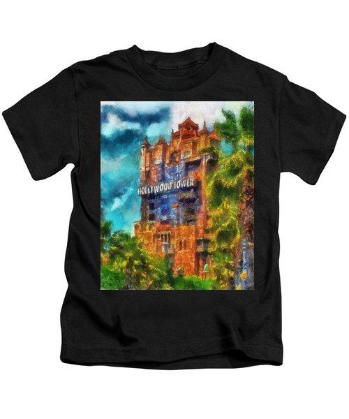 Hollywood Tower Hotel Wdw Photo Art 03 Kids T-Shirt