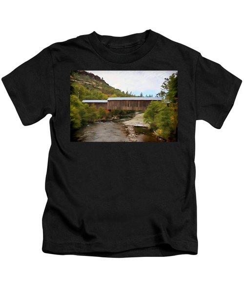 Honey Run Covered Bridge Kids T-Shirt