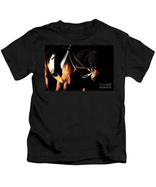 Horse In The Shade Kids T-Shirt