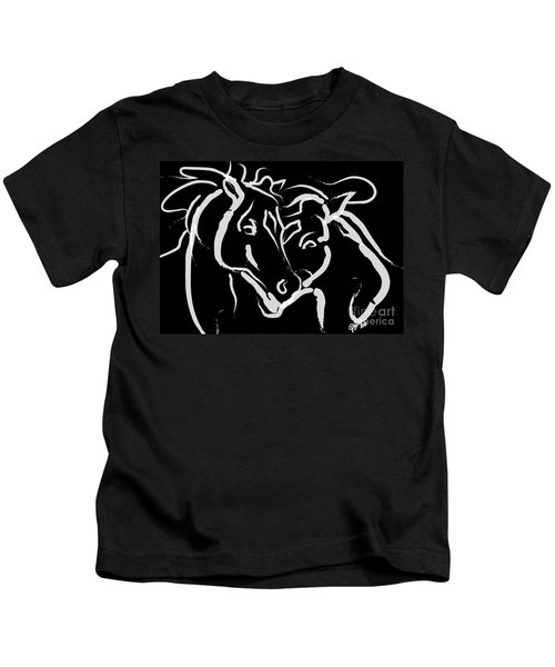 Horse- Together 5 Kids T-Shirt