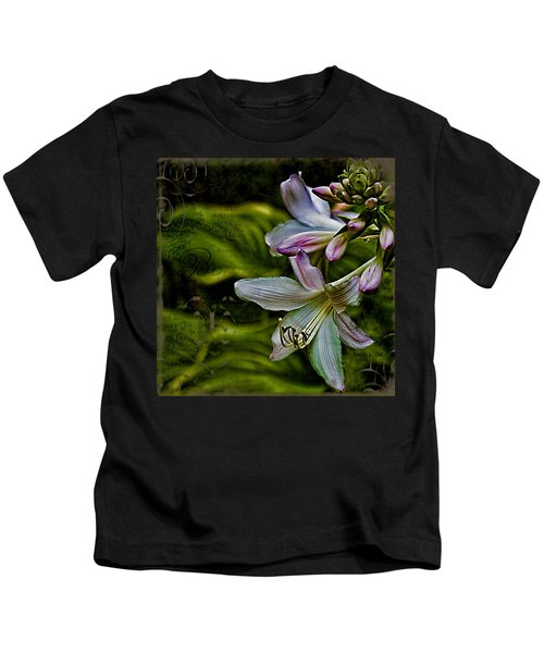 Hosta Lilies With Texture Kids T-Shirt