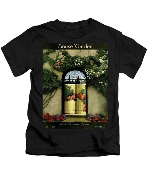House And Garden Interior Decoration Number Kids T-Shirt