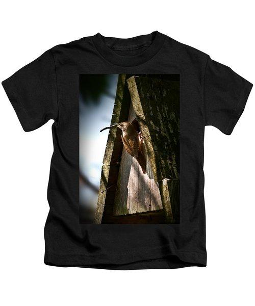 House Wren At Nest Box Kids T-Shirt