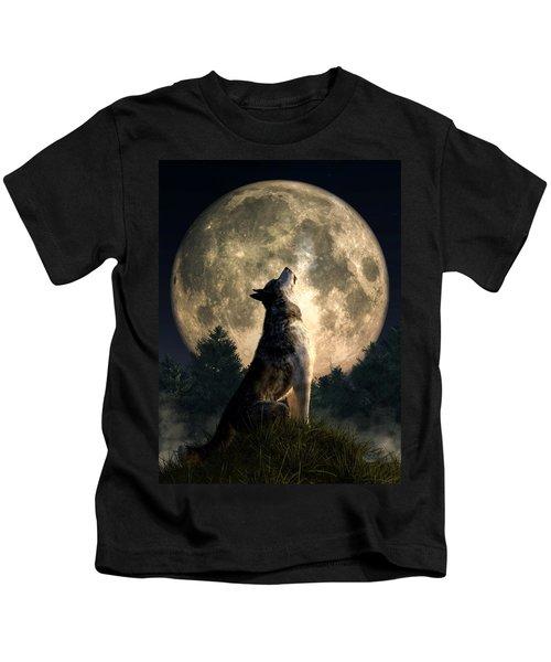 Howling Wolf Kids T-Shirt