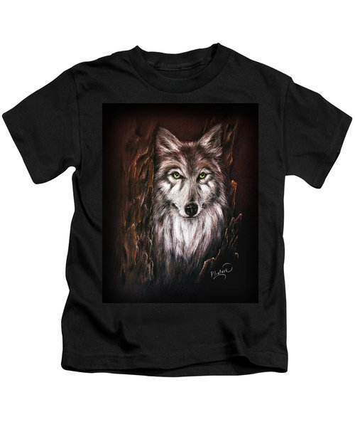 Hunter In The Night Kids T-Shirt