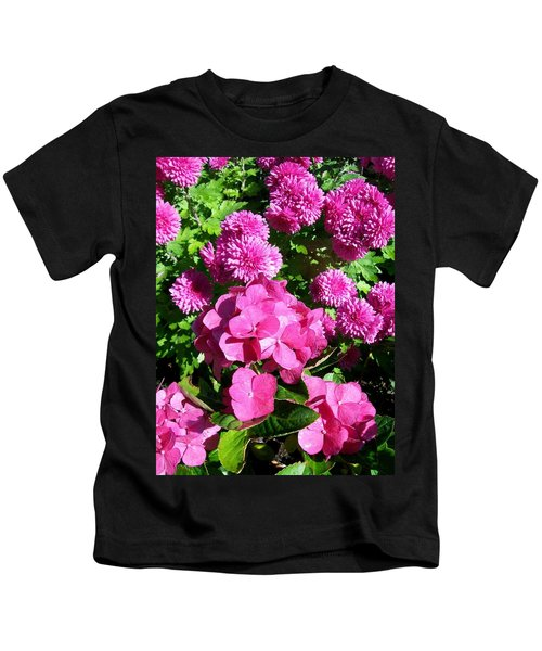 Hydrangea And Mums  Kids T-Shirt