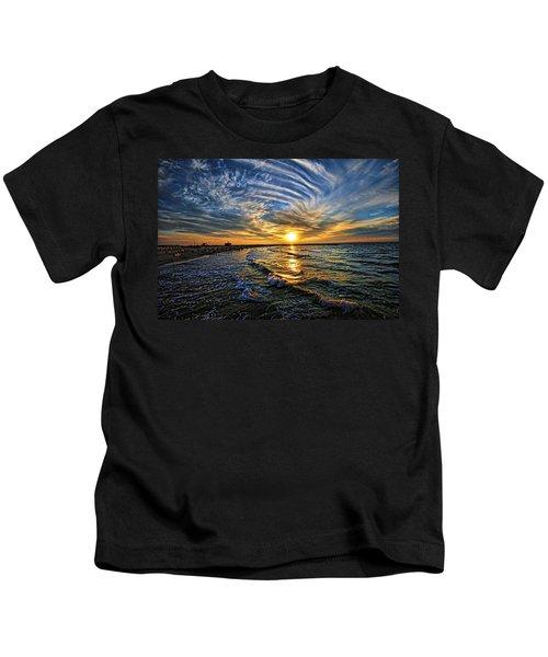 Hypnotic Sunset At Israel Kids T-Shirt