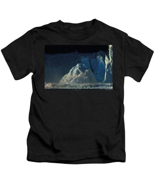 Ice Calving, Leconte Glacier, Alaska Kids T-Shirt