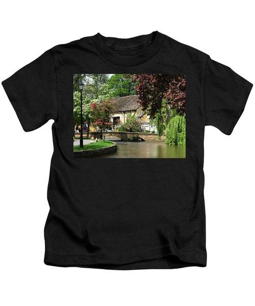 Idyllic Village Scene Kids T-Shirt
