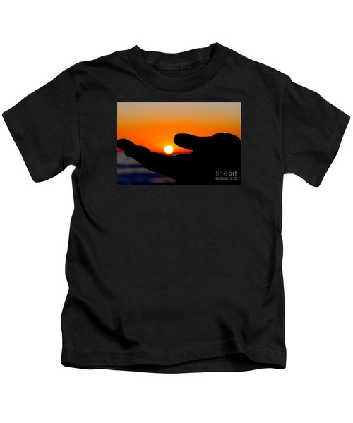 In His Hands By Diana Sainz Kids T-Shirt