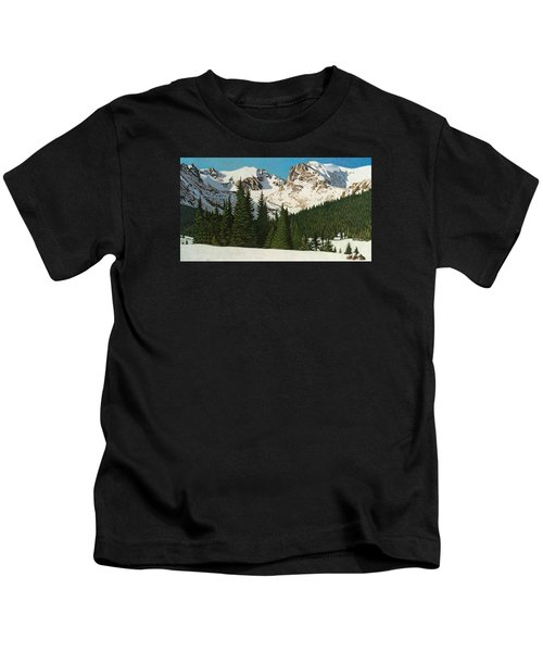 Indian Peaks Winter Kids T-Shirt