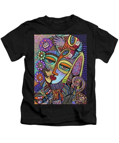 Indigo Tapastry Royal Cats Kids T-Shirt