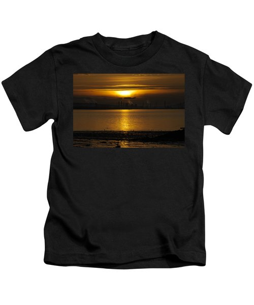 Industrial Sunset Kids T-Shirt