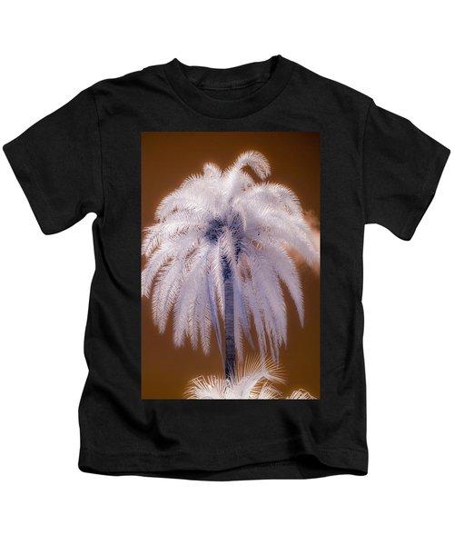 Infrared Palm Tree Kids T-Shirt