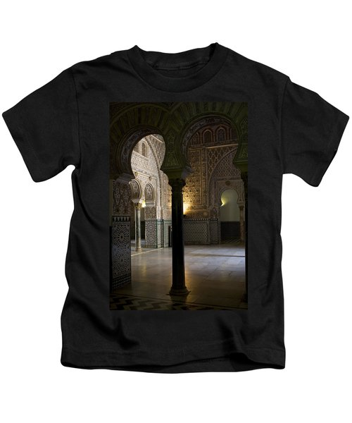 Inside The Alcazar Of Seville Kids T-Shirt