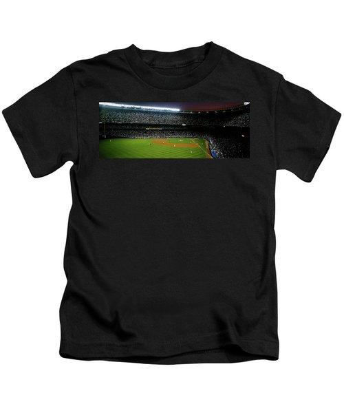 Interiors Of A Stadium, Yankee Stadium Kids T-Shirt