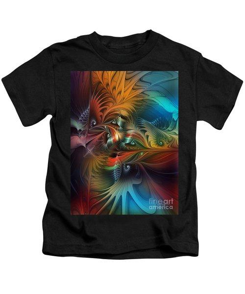 Intricate Life Paths-abstract Art Kids T-Shirt