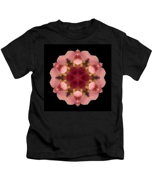 Iris Germanica Flower Mandala Kids T-Shirt