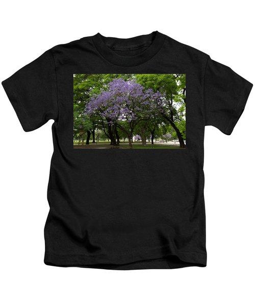 Jacaranda In The Park Kids T-Shirt