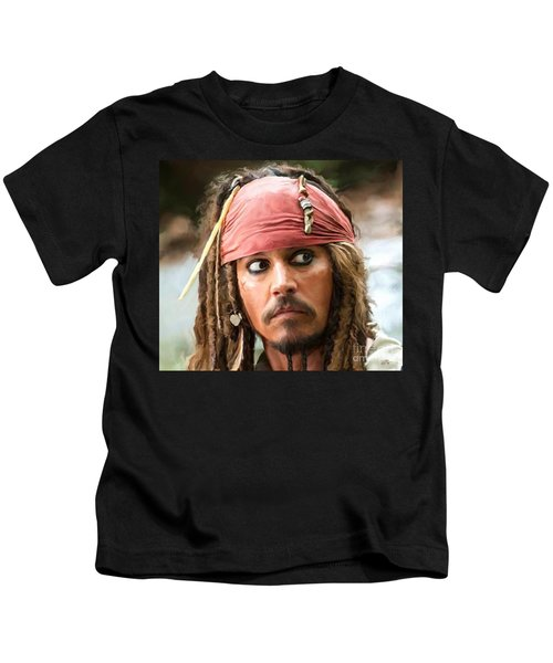 Jack Sparrow Kids T-Shirt by Paul Tagliamonte