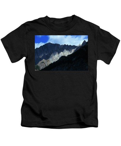 Jagged Mountains Of Banff National Kids T-Shirt