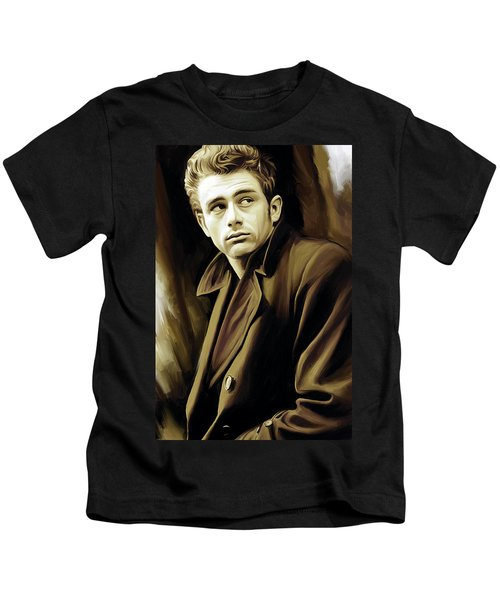 James Dean Artwork Kids T-Shirt