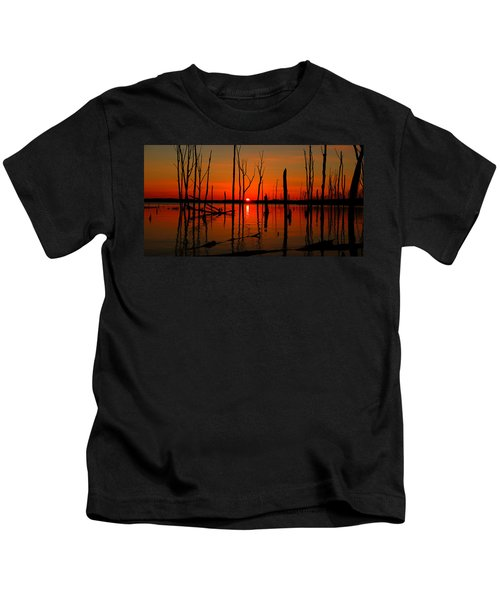 January Sunrise Kids T-Shirt