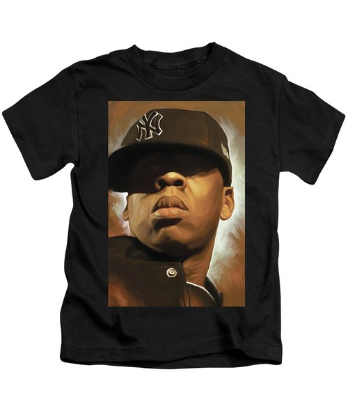 Jay-z Artwork Kids T-Shirt