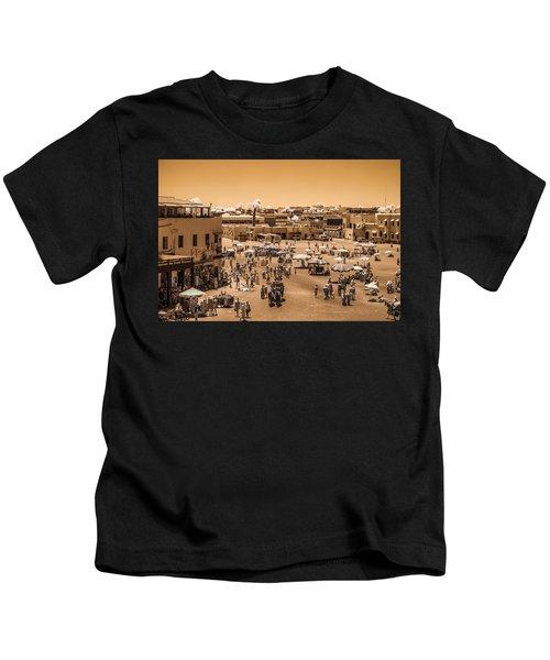 Jemaa El Fna Market In Marrakech At Noon Kids T-Shirt