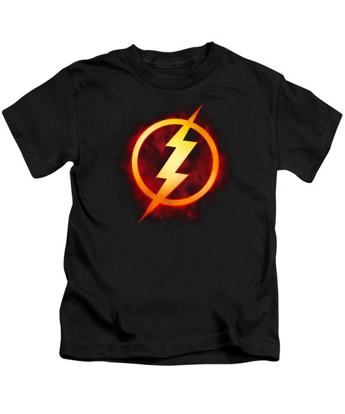Jla - Flash Title Kids T-Shirt