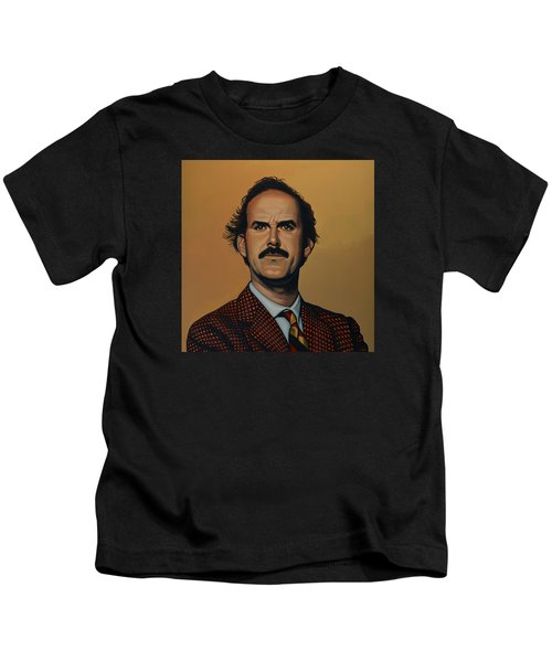John Cleese Kids T-Shirt by Paul Meijering