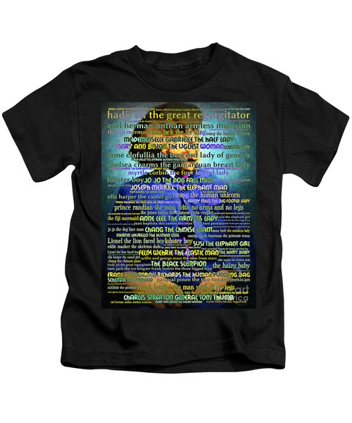 Joseph Carey Merrick The Elephant Man - Human Carnival Sideshows And Other Oddities Of The World Kids T-Shirt