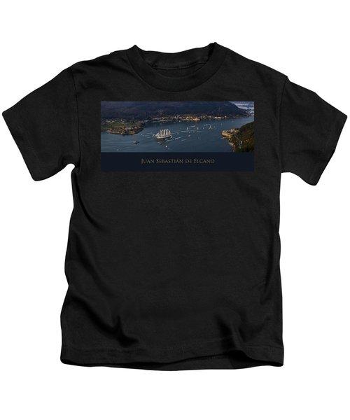 Juan Sebastian Elcano Departing The Port Of Ferrol Kids T-Shirt