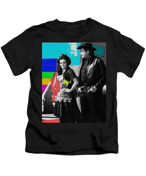 June Carter Cash Johnny Cash In Costume Old Tucson Az 1971-2008 Kids T-Shirt
