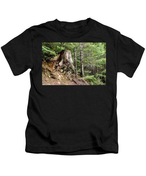 Just Hanging On Old Growth Forest Stump Kids T-Shirt