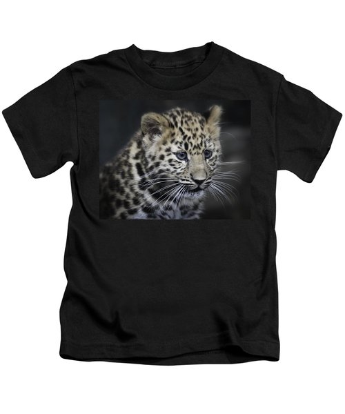 Kanika - Amur Leopard Portrait Kids T-Shirt