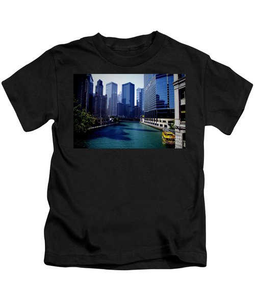 Kayaks On The Chicago River Kids T-Shirt