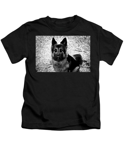 King Shepherd Dog - Monochrome  Kids T-Shirt